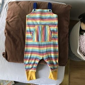 Hanna Andersson rainbow overalls, worn once!